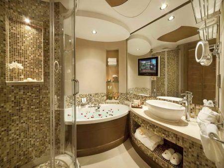 ديكورات حمامات 2019 احدث ديكورات حمام مودرن فخمة ميكساتك Bathroom Design Luxury Bathrooms Remodel Luxury Bathroom