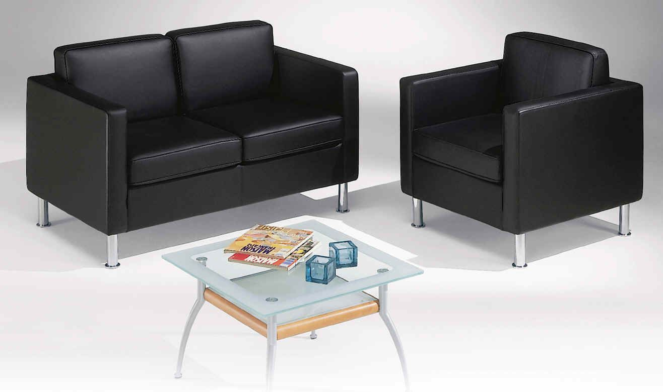 Modern Office Guest Chairs In Black Leather Office Furniture Modern Office Reception Chair Office Sofa