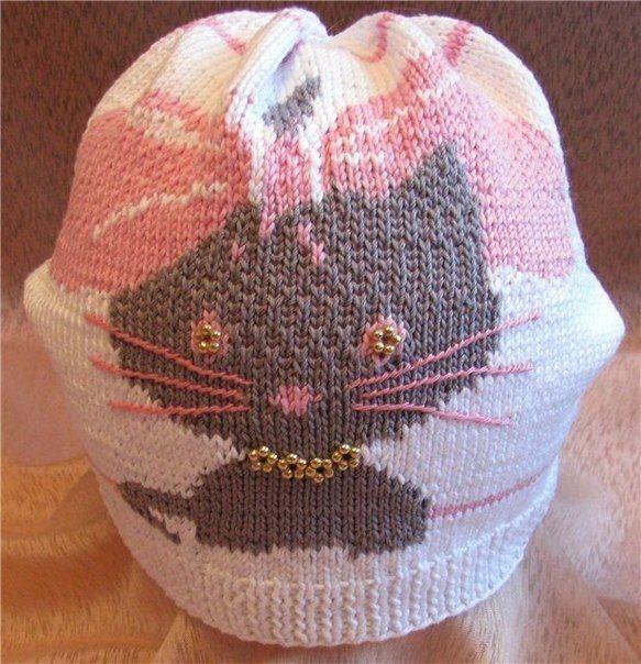 Delicadezas en crochet Gabriela: Esquema de gatita para gorro ...