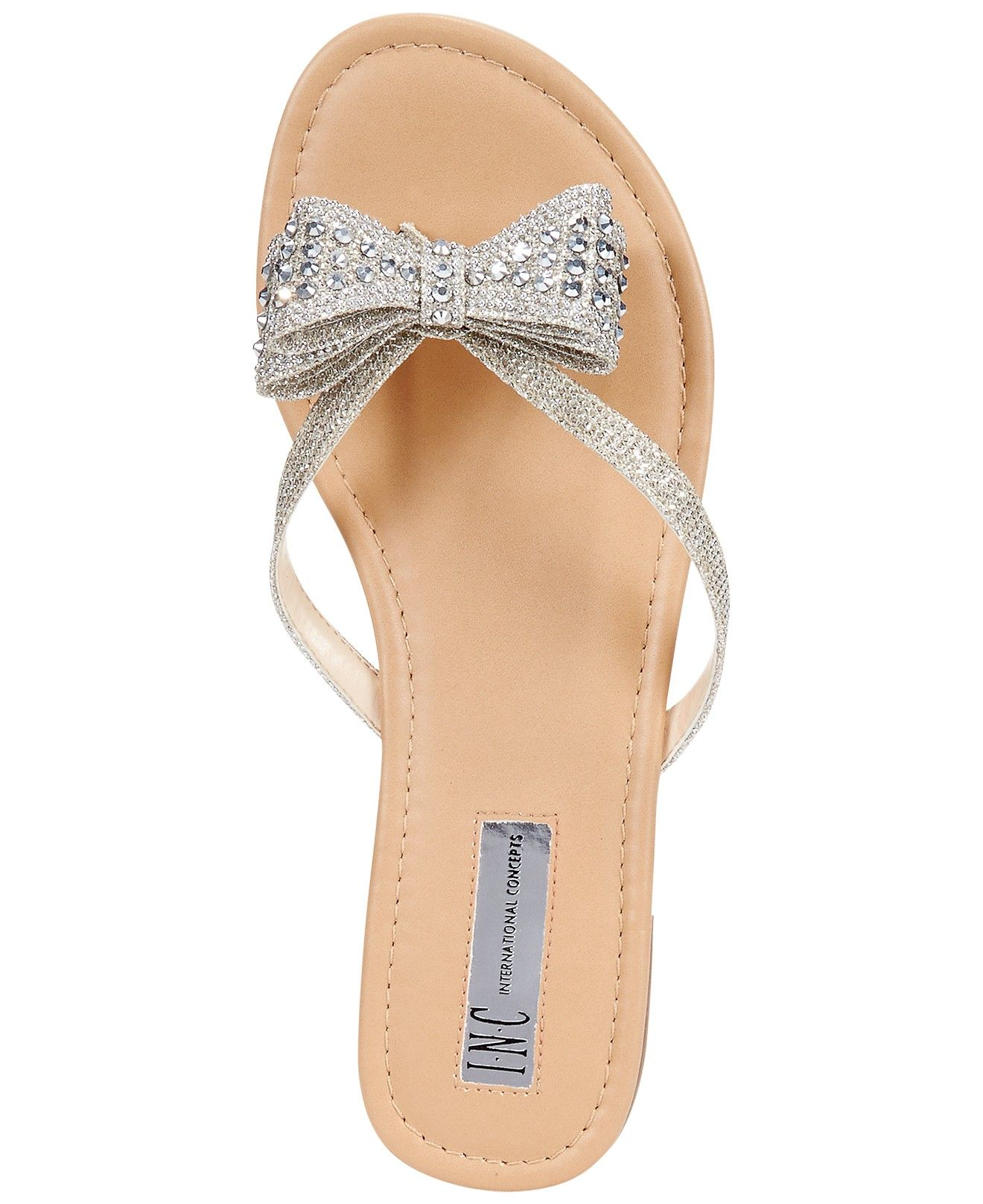 a140b19bbeae85 INC International Concepts Women s Malissa Bow Thong Sandals - Shoes -  Macy s