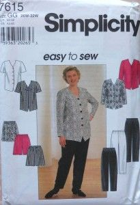 Plus Size Top and Pants Sewing Pattern