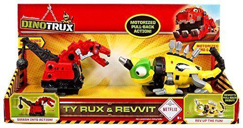 Dinotrux Ty Rux & Revvit Pull Back Vehicle 2-Pack