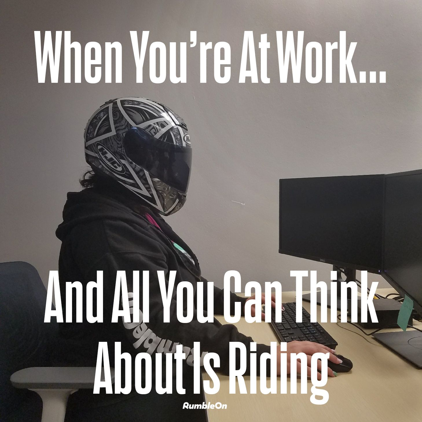 Literally every single day. RumbleOn Rider Motorcycle