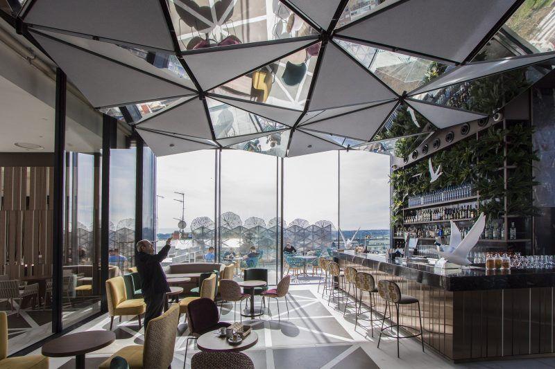 Ginkgo Sky Bar Madrid Bar Interior Design Cafe Bar Design Rooftop Design