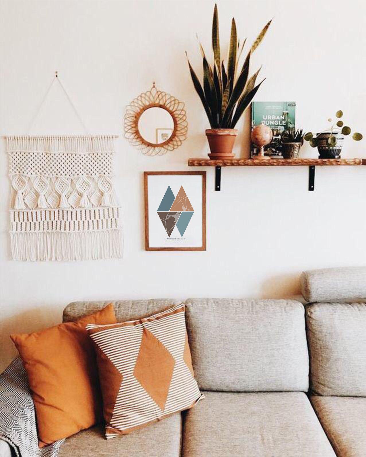 Turquoise Triangles Wall Art Print, Minimalism, Geometric print, Printable art, Digital print, Minimalist , Triangle, Bedroom Art, Poster