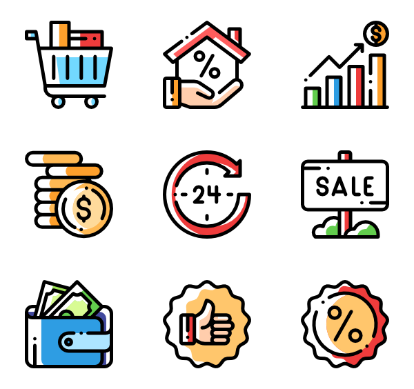 Detailed Rounded Icon Style Color Omission 6 340 Vector Icons Available In Svg Eps Png Psd Files And Icon Font Icon Font Icon Icon Pack