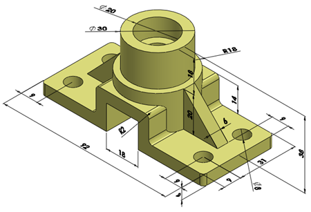 01 Rod Support Solidworks Edrawings Solidworks Tutorial Autocad Isometric Drawing Solidworks