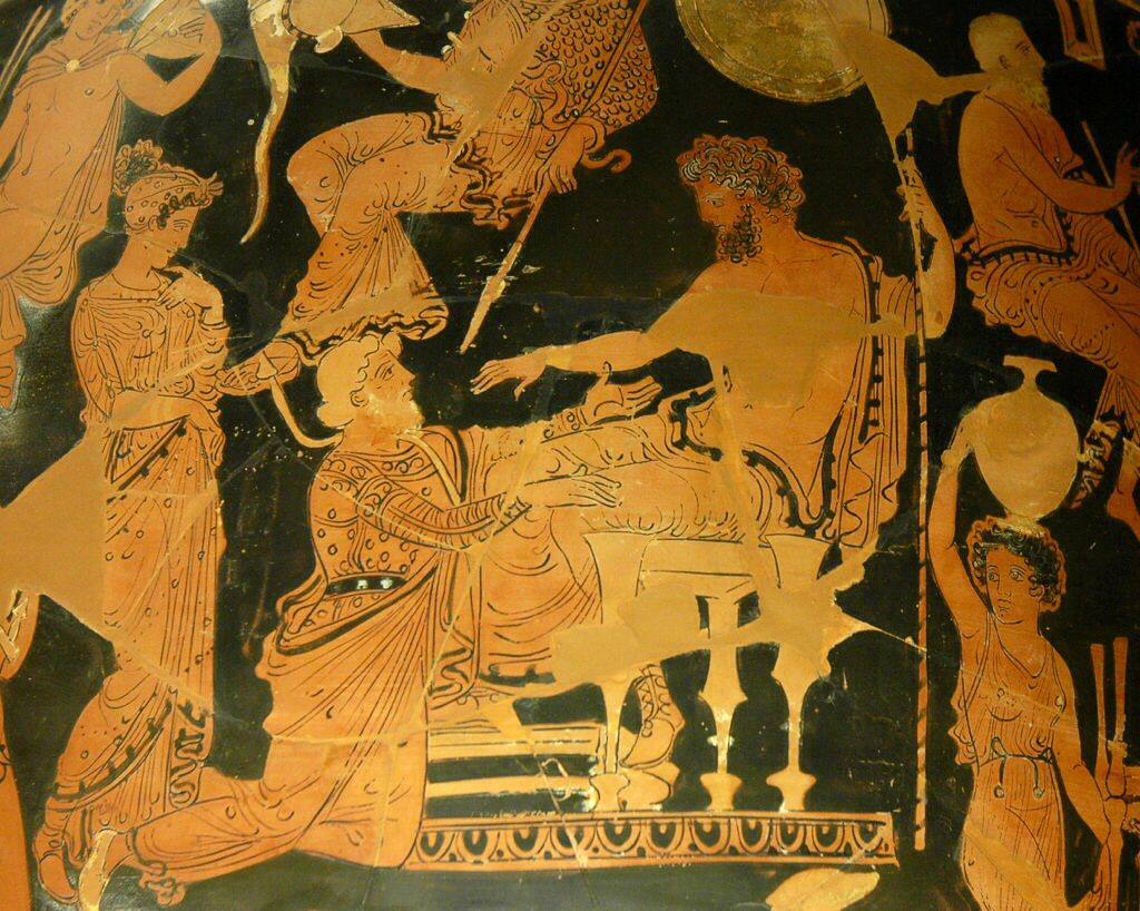 #Chryses pleading with #Agamemnon for his daughter (360–350 BC)