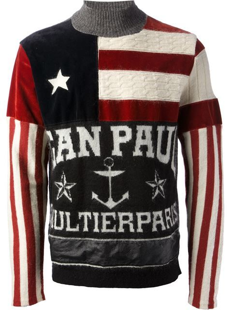afcc8bbd Shop Jean Paul Gaultier Vintage anchor flag print jumper in House of Liza  from the world's best independent boutiques at farfetch.com.