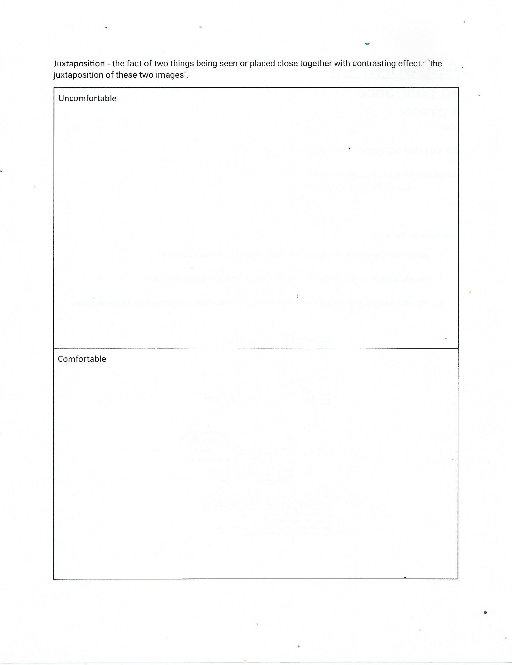 A Worksheet Where You Have To Draw Things That Make You