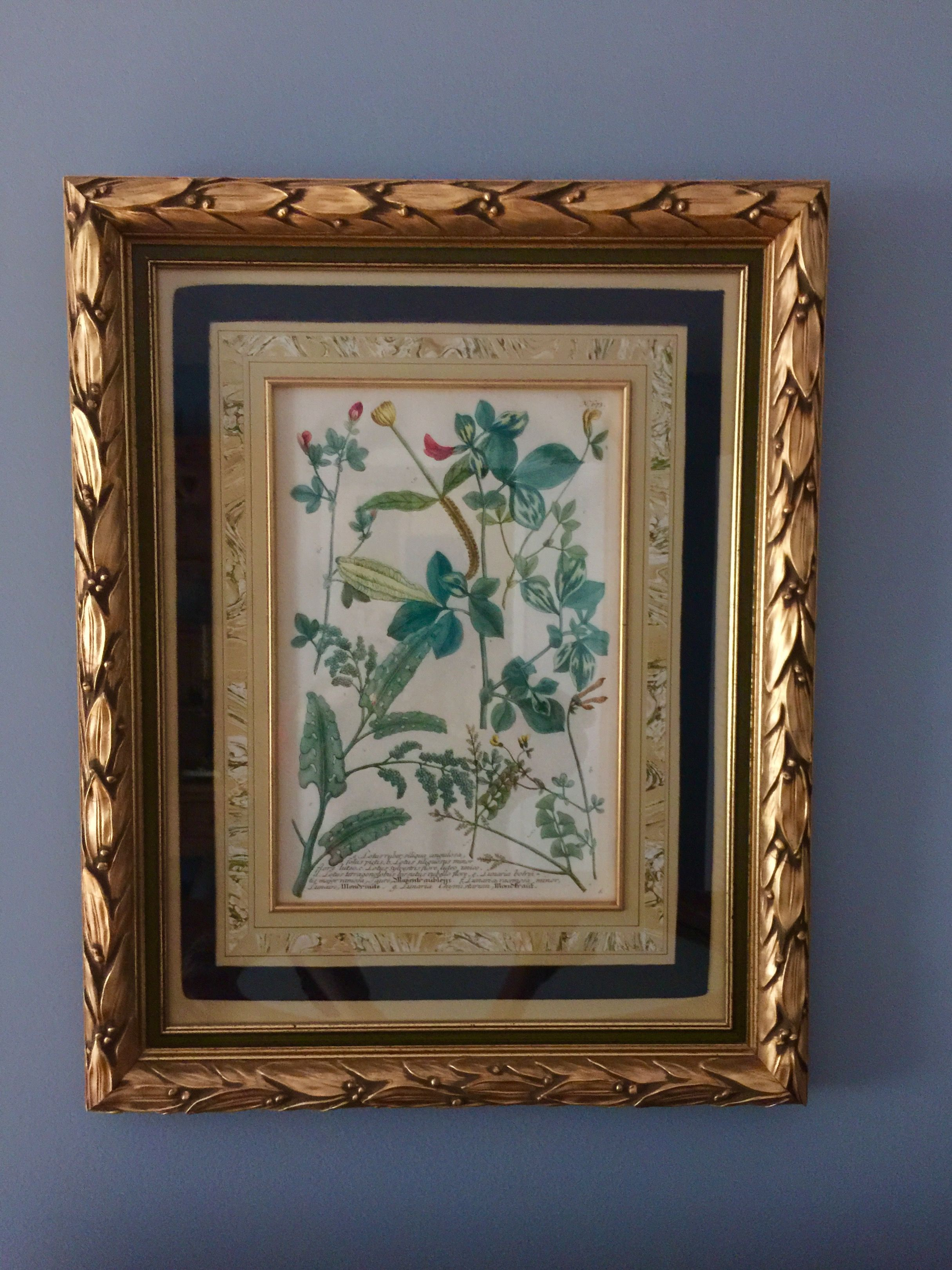 We added a heavy gold leaf frame surrounding old existing green ...