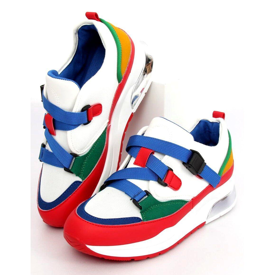 Trampki Damskie Butymodne Buty Sportowe Kolorowe 8801 Blue Baby Shoes Sneakers Shoes