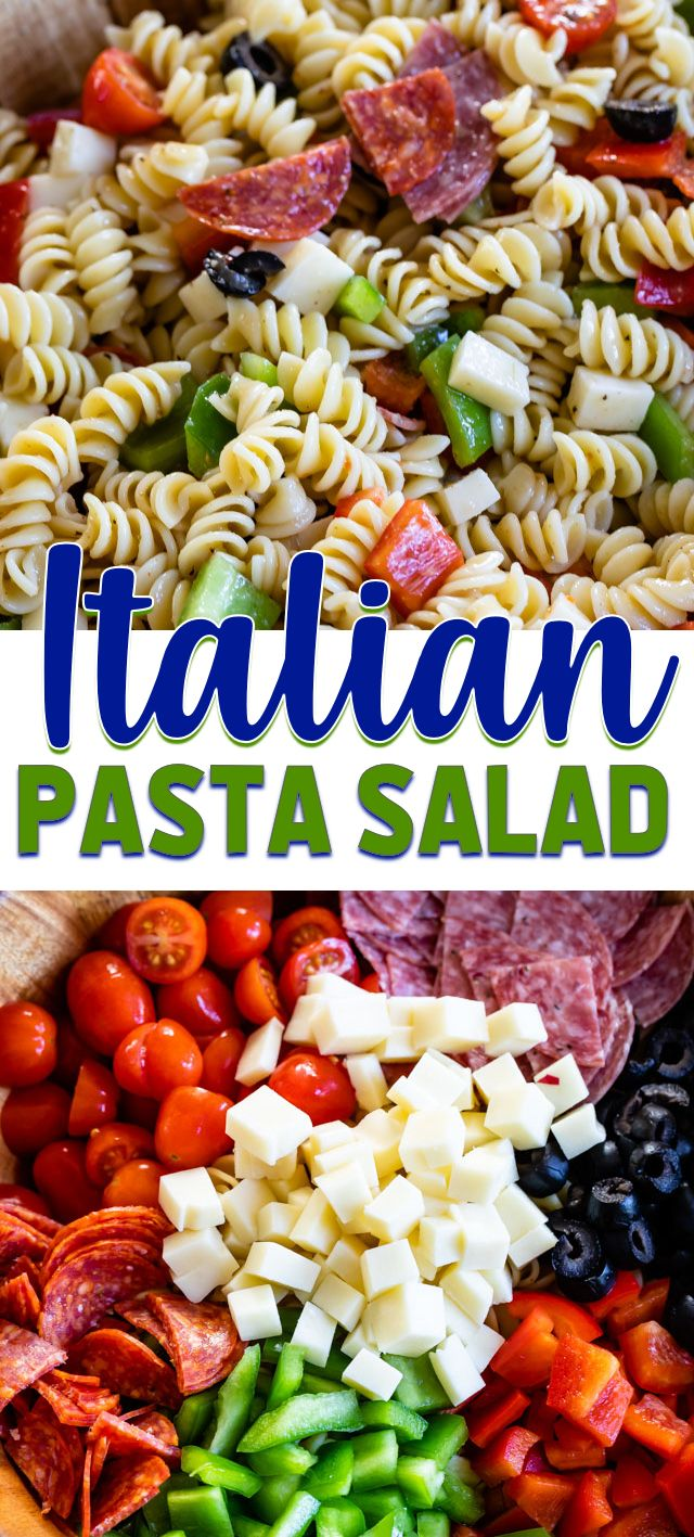 Photo of Easy Italian Pasta Salad Recipe – Crazy for Crust