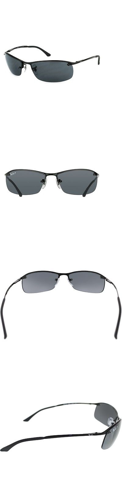 Sunglasses 155189: Ray-Ban Rb3183 002 81 Black Frame Polarized Grey ...