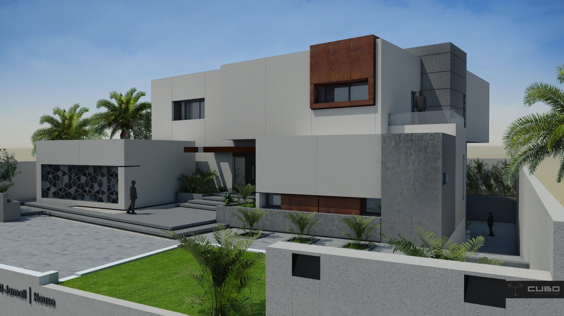 Modern House In Doha Qatar Design By Cubo House Styles House Modern House