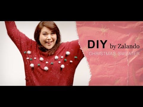 DIY Weihnachtspullover | Christmas Sweater Tutorial mit Zalando Deutschland - YouTube