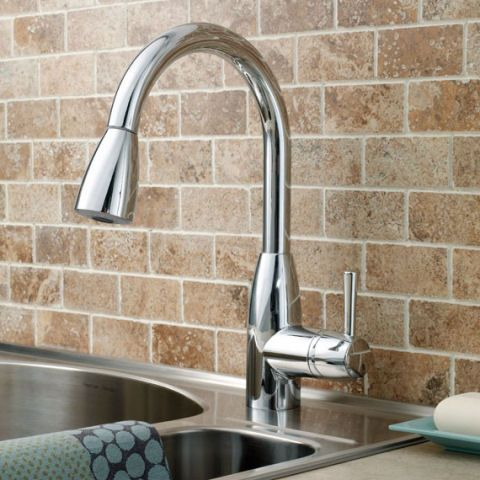 View Fairbury 1-Handle Pull Down High-Arc Kitchen Faucet | kitchen ...