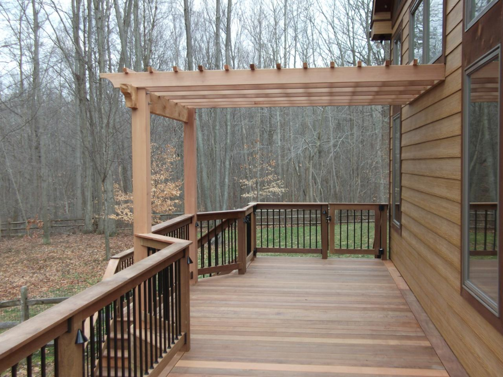 Google Image Result For Https Www Deckconstructionpa Com Sites Default Files Styles Image Gallery Large Pu In 2020 Deck With Pergola Decks Backyard Second Story Deck