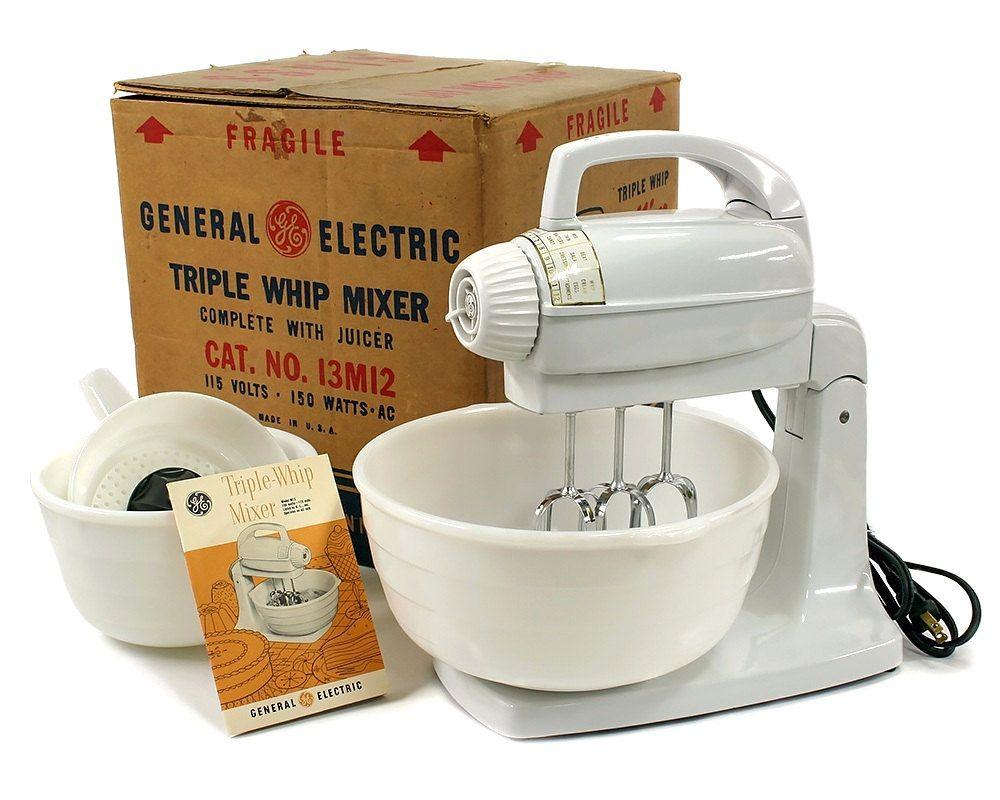 Nos Vintage 1954 Ge General Electric Triple Whip Mixer Stand Etsy General Electric Electricity Vintage Kitchen