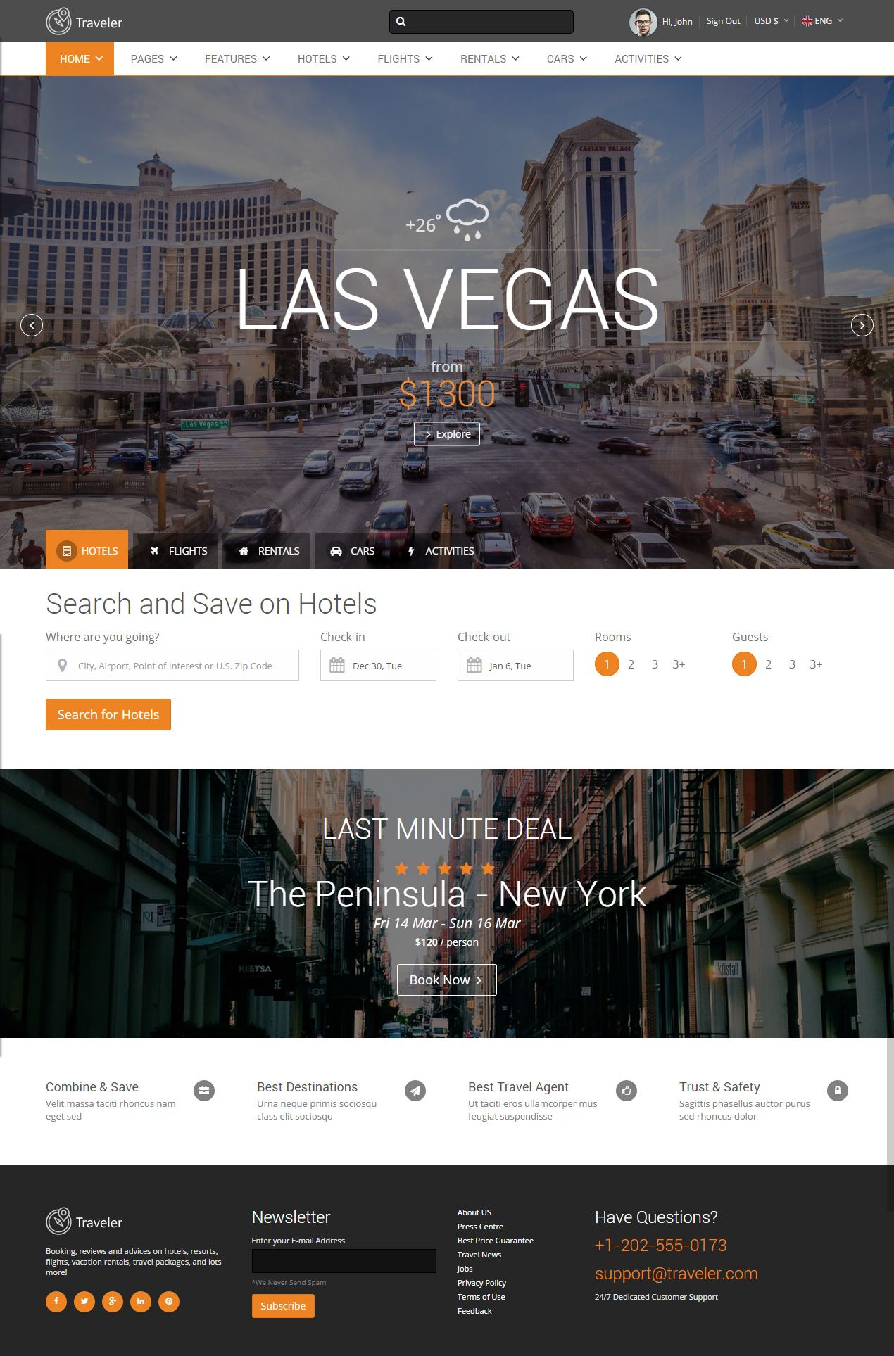 Traveler is Premium Responsive Parallax HTML5 Template for Car ...