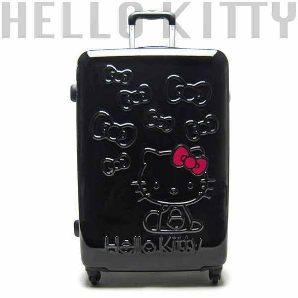 Hello Kitty ribbon black size 26inch siz Art Weld Carry Case bag suitcase  travel   eBay ade6bbbad2