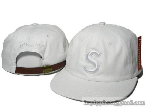 41b4fa8b Cheap Wholesale Supreme Strapback Hats Caps S Logo Adjustable Hats White  for slae at US$8.90 #snapbackhats #snapbacks #hiphop #popular #hiphocap  #sportscaps ...