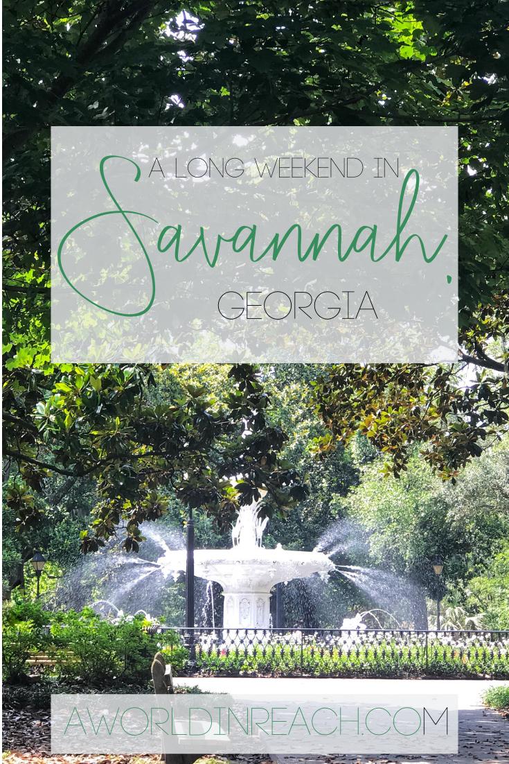 3 Days In Savannah Plan A Long Weekend In Savannah Georgia Savannah Chat United States Travel Destinations Travel Usa