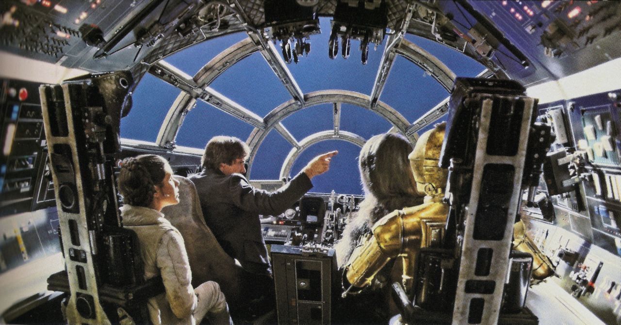Displaying images for millenium falcon cockpit wallpaper - Filming In The Millennium Falcon Cockpit During The Empire Strikes Back