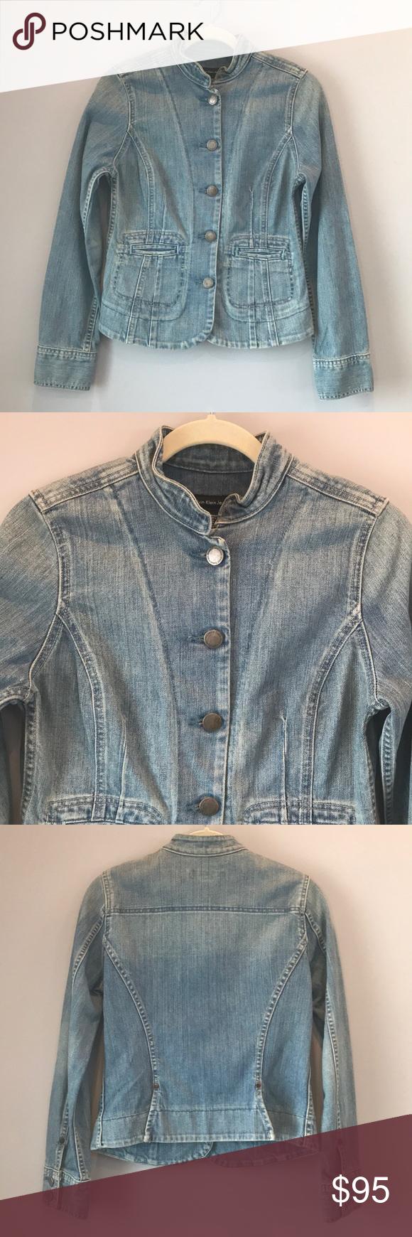 Rare Vintage Calvin Klein Jean Jacket Calvin Klein Jeans Jean Jacket Blazer Jean Jacket