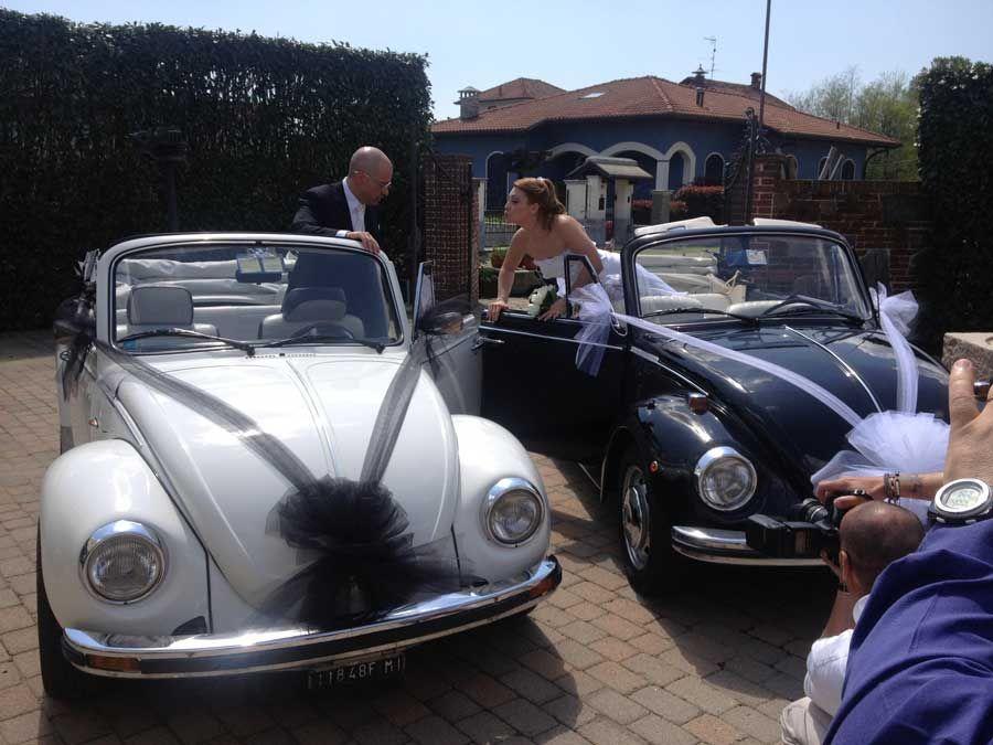 Maggiolone cabrio - matrimonio bianco/nero!