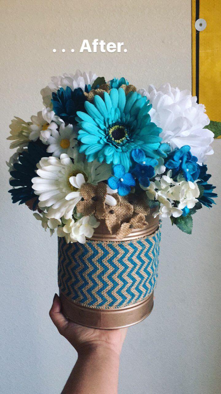 Rustic Wedding, centerpiece! DIY! Fake flowers! Fake