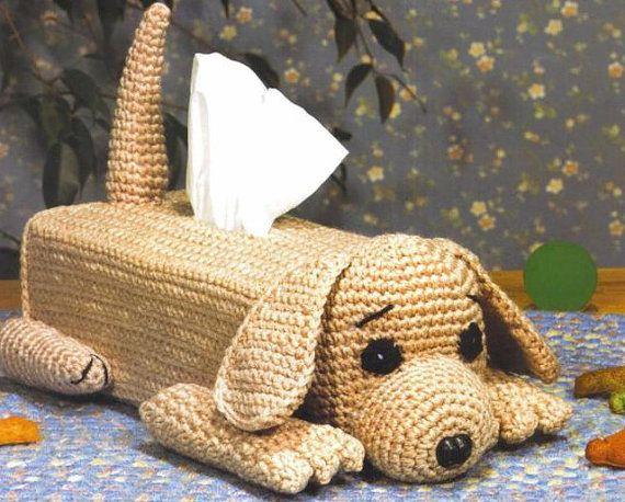 Pdf Puppy Tissue Box Crochet Cover Pattern Handmade Crochet