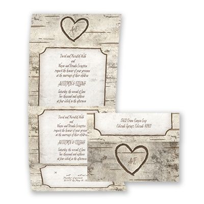 Birch Bliss Seal And Send Wedding Invitation Inexpensive Thrifty At Invitations By David S Bridal