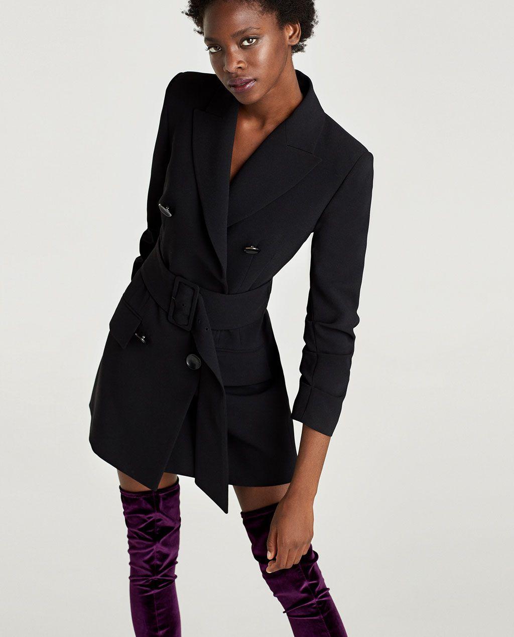 image 2 of checked dress blazer from zara dress pinterest blazers autumn and winter. Black Bedroom Furniture Sets. Home Design Ideas