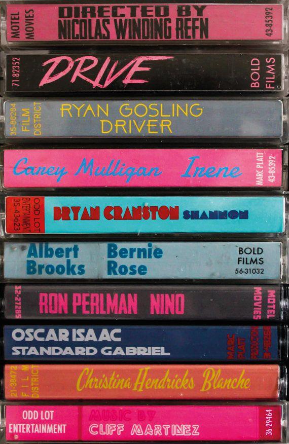 Drive film poster, cassette art by Jordan Bolton #filmposters
