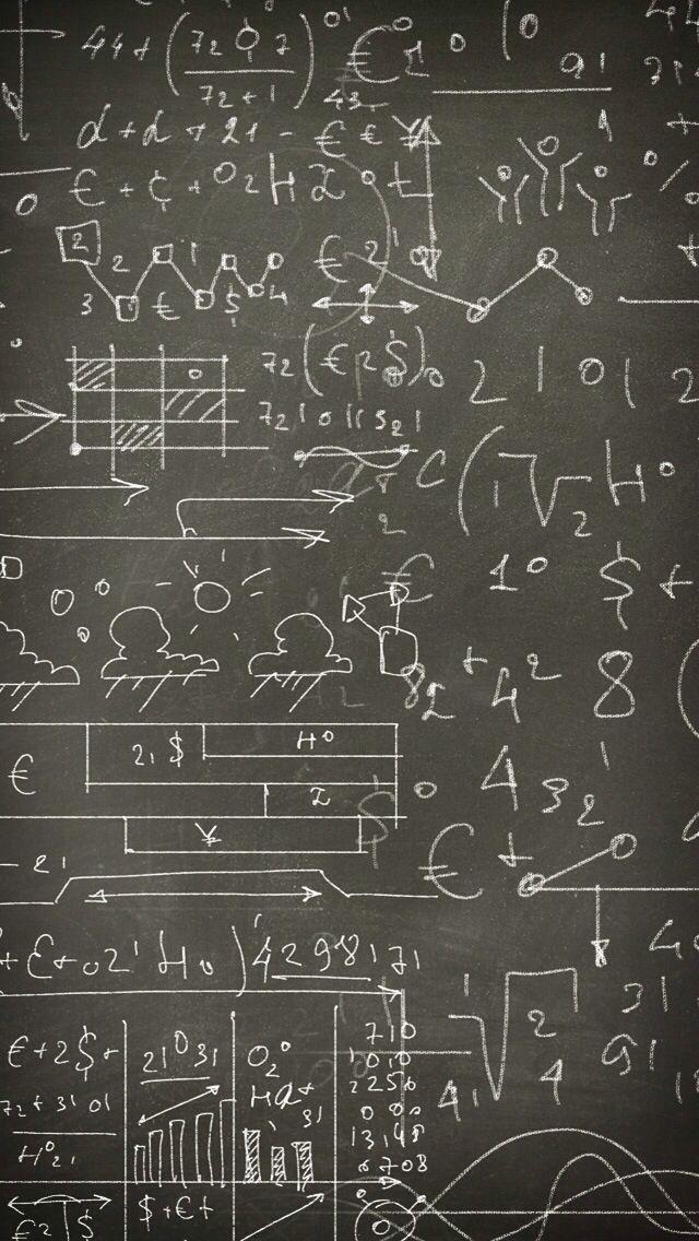 Science Formulas on Blackboard | Ipod wallpaper, Iphone ...