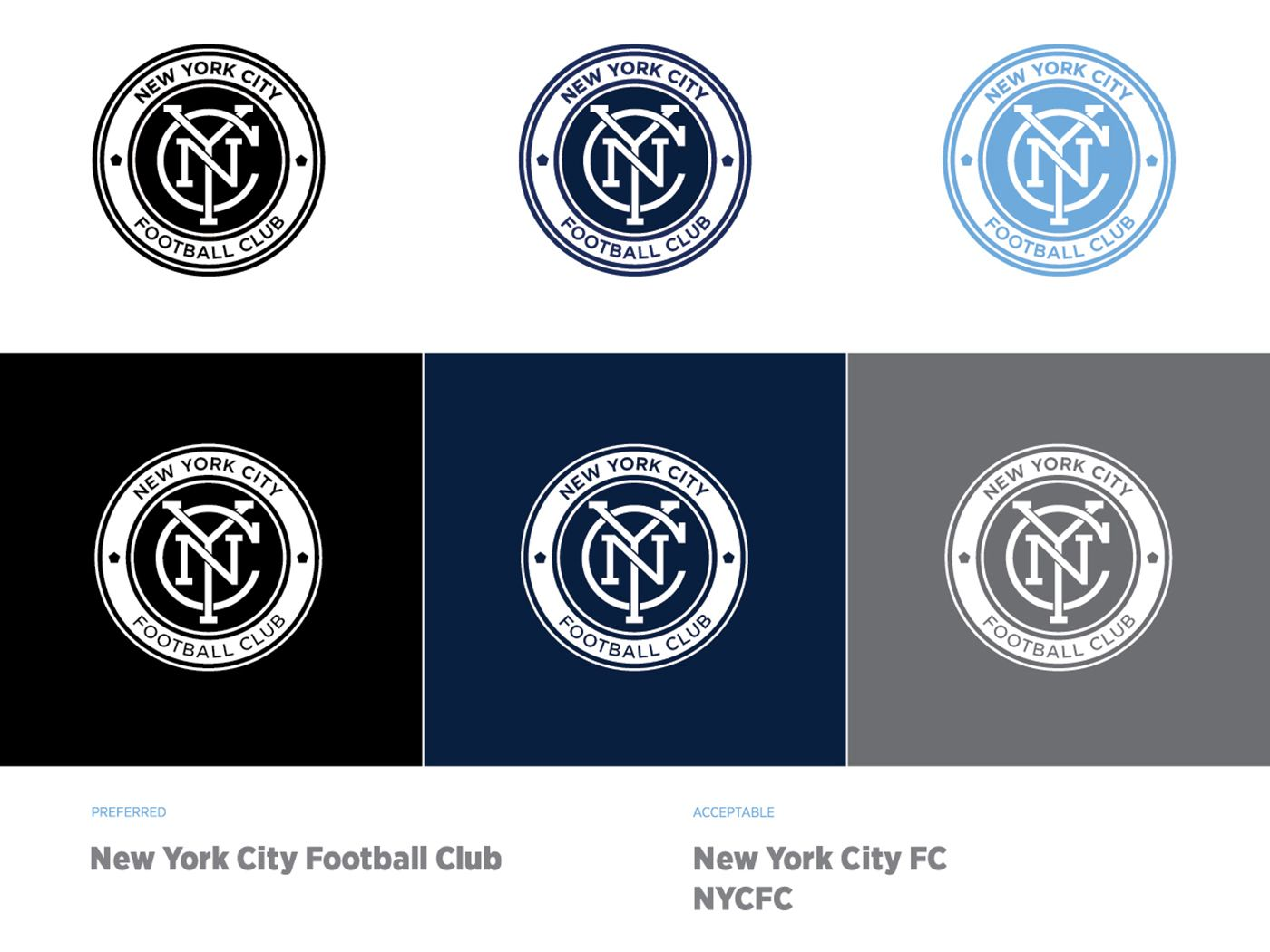 Branding, logo design and strategy for NYCFC New york