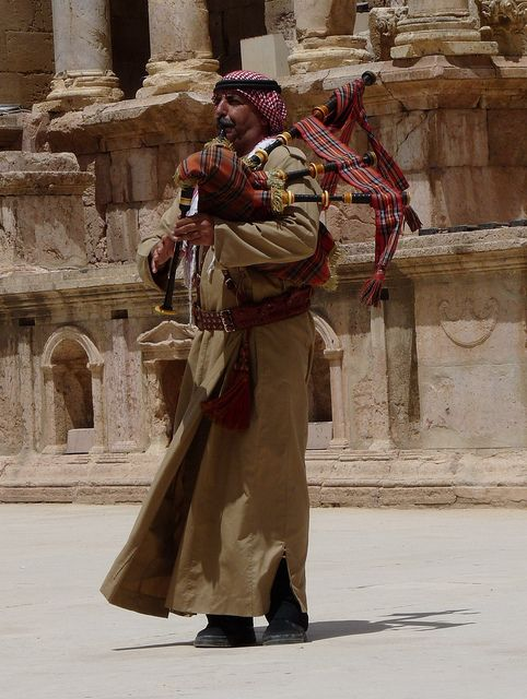 Bagpiper. Jerash, Jordan. | by James Holme