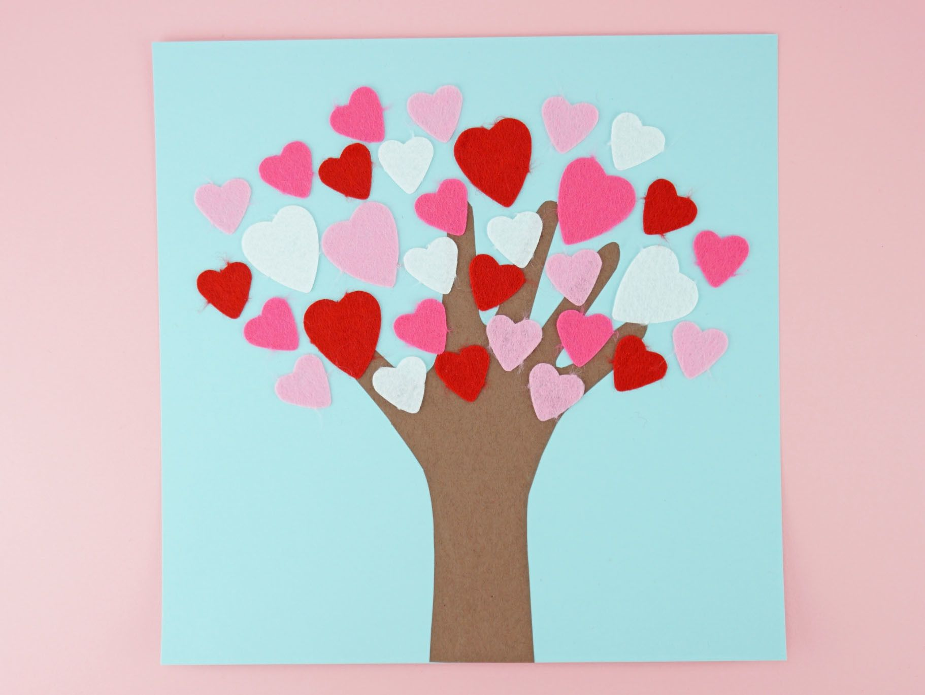 Handprint Heart Tree Craft