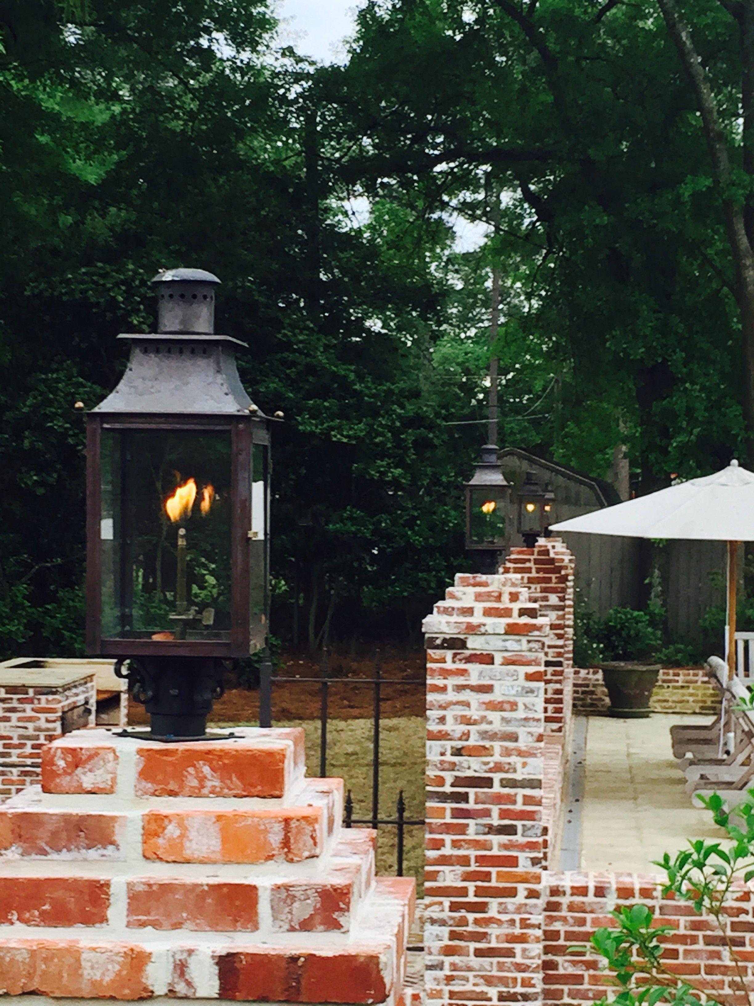 poolside lighting gas lantern by