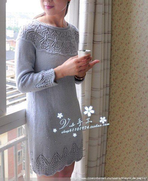 3efa7d2b534 платье спицами - Самое интересное в блогах