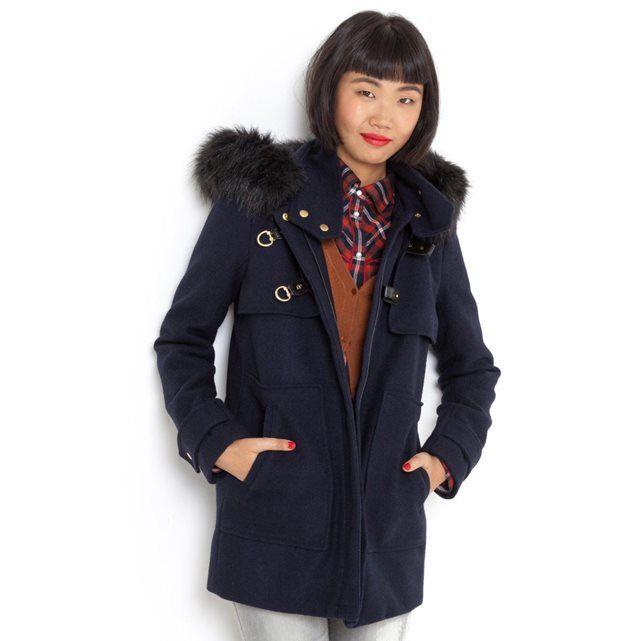 Bien-aimé Duffle-coat court 50% laine VG72