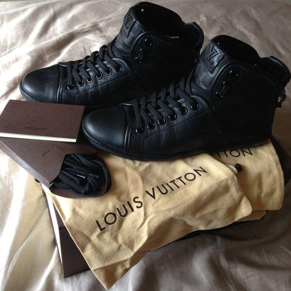 Men's high top Louis Vuitton shoes