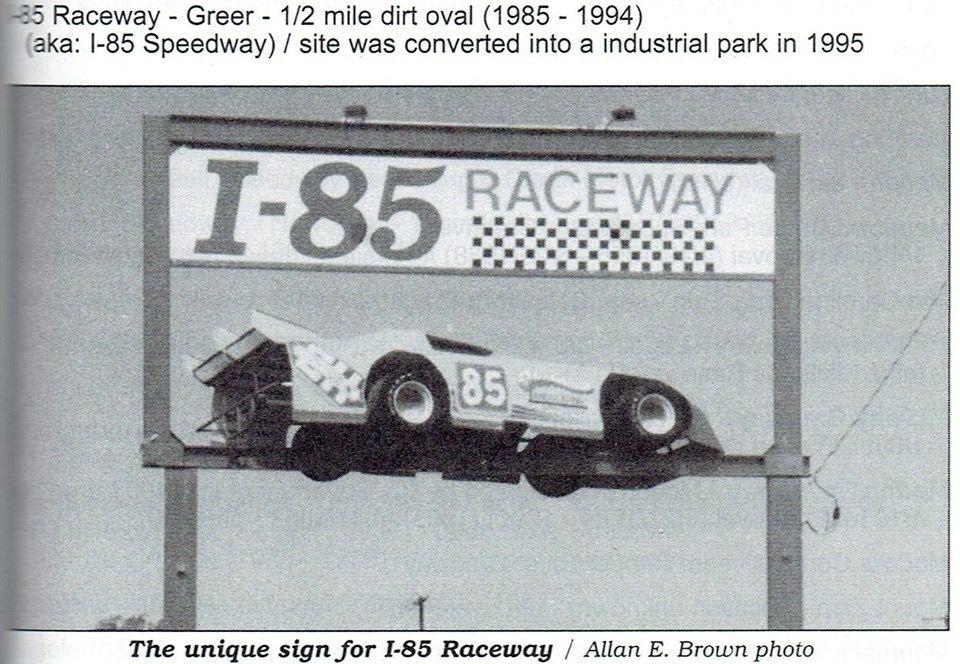 I 85 Raceway Greer Sc Dirt Late Model Vintage Racing Sign Dirt Late Models Dirt Racing Old Race Cars