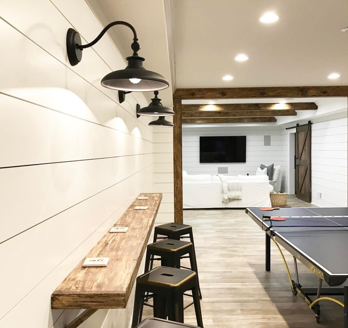 Finished luxury basement in naperville rustic basement by djk - Paint The Basement White