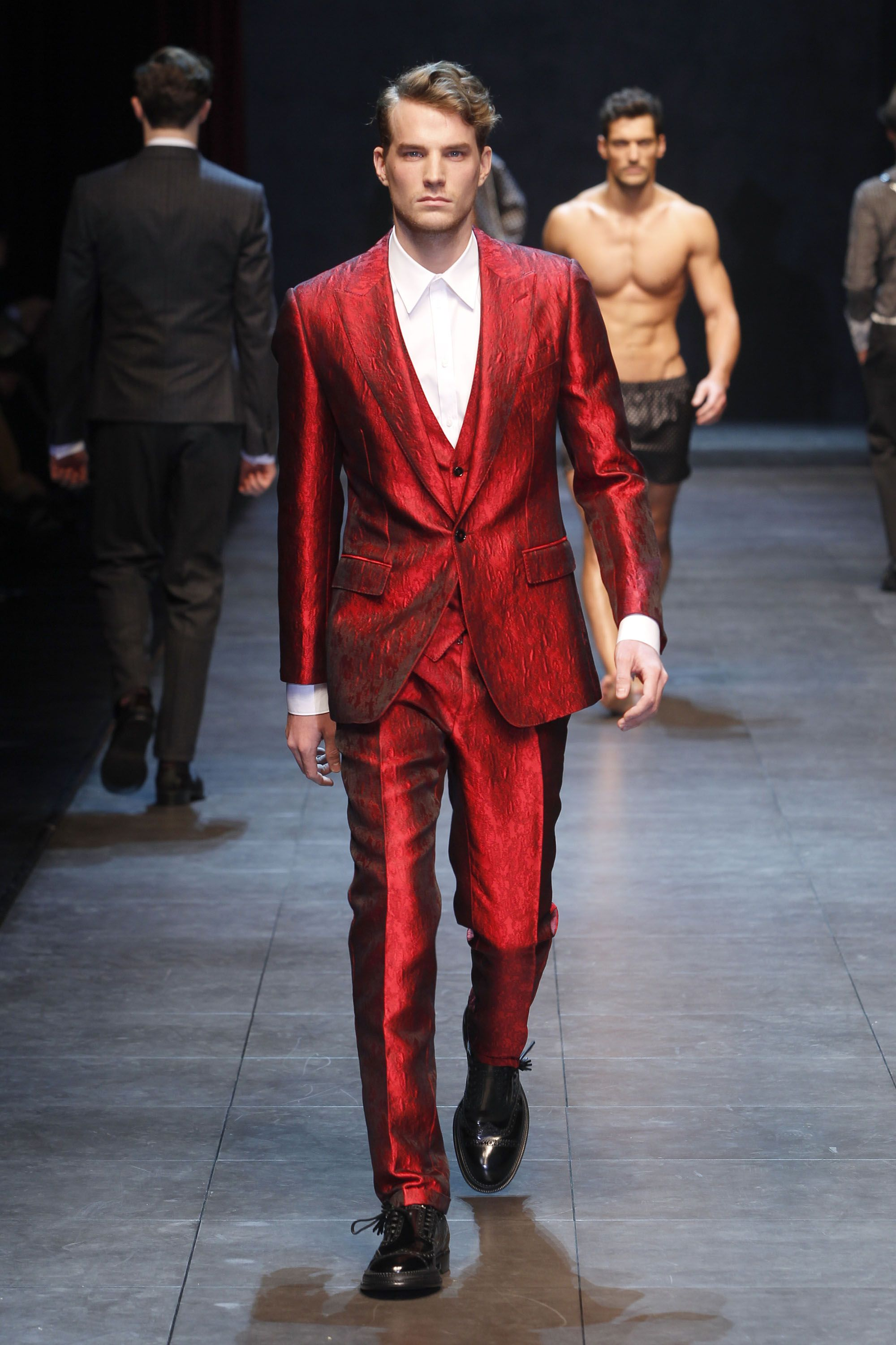 Dolce & Gabbana men's red suit | Style | Chinese New Year Dress ...