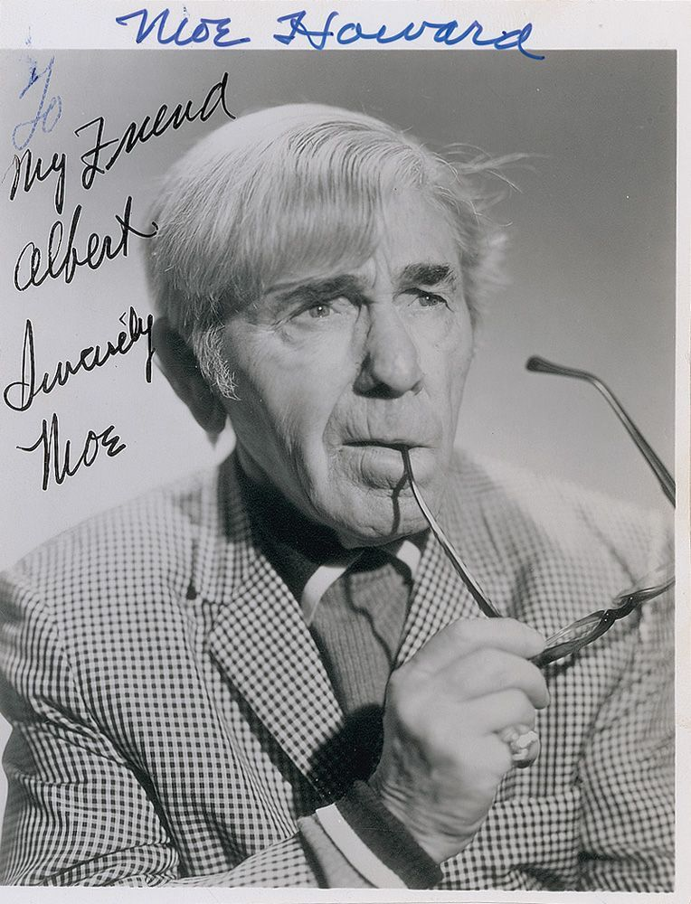Moe howard in later years the three stooges classic