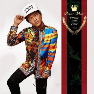 versace silk shirt bruno mars
