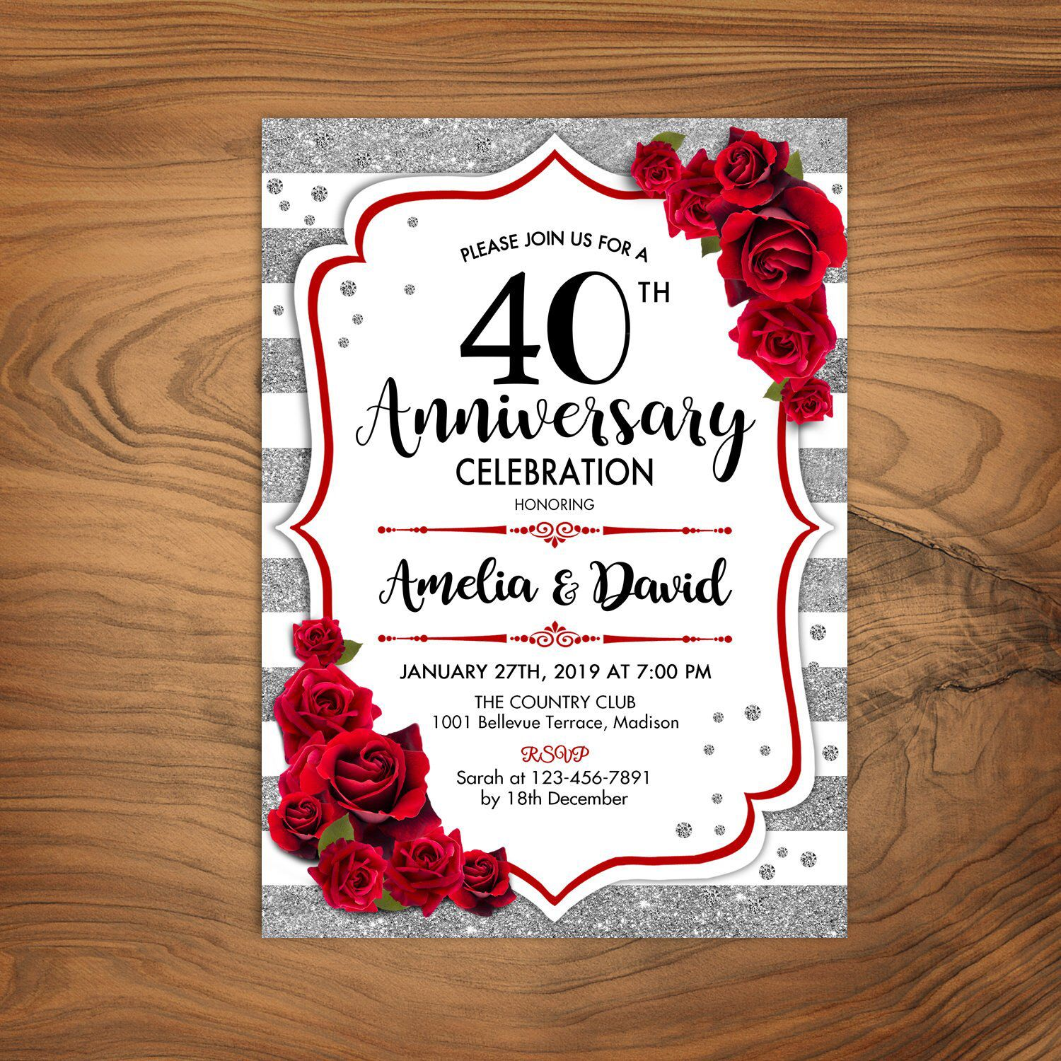 pinbspencer on events  themes  40th wedding