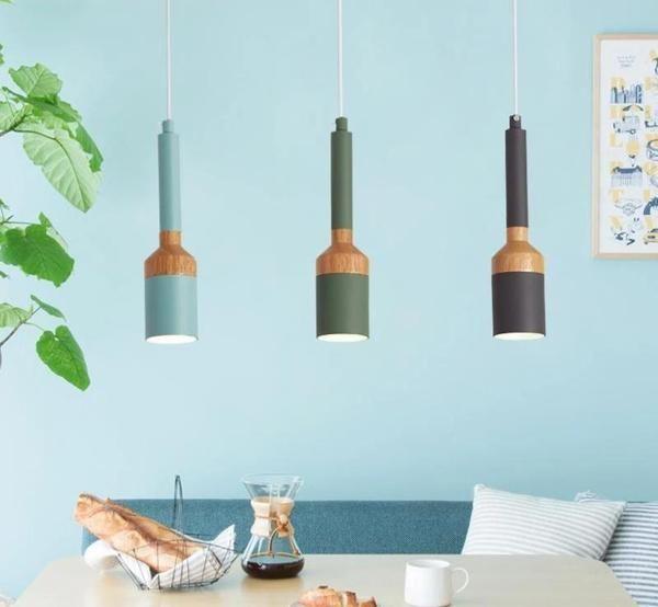 Nordic Bathroomdesign: Modern Nordic LED Brush Pendant Light In 2020